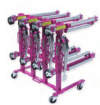 UNX 5211PKG 4 Dollies w/Storage Rack